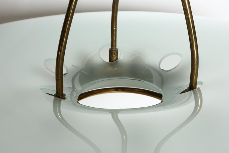 Mid-20th Century Fontana Arte Attributed Chandelier by Max Ingrand For Sale