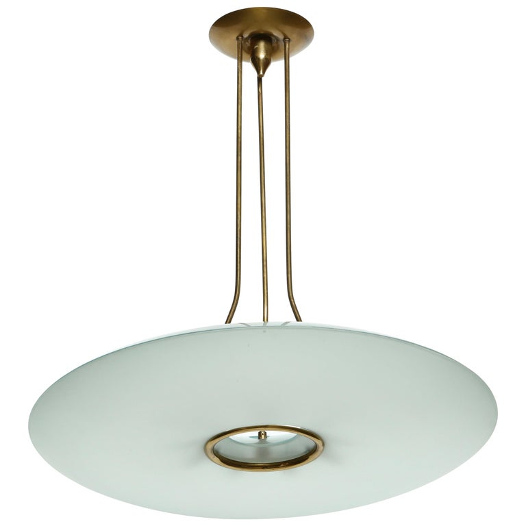 Fontana Arte Attributed Chandelier by Max Ingrand For Sale