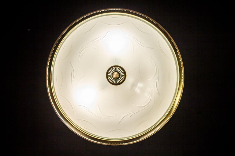 Midcentury Ceiling Fixture or Pendant by Luigi Brusotti, Italy, 1940 For Sale 11