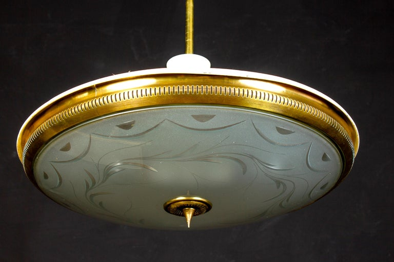 Midcentury Ceiling Fixture or Pendant by Luigi Brusotti, Italy, 1940 For Sale 4