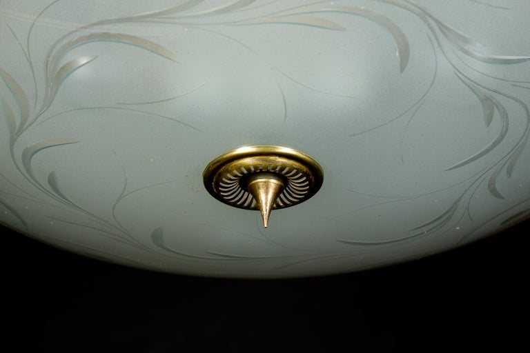 Midcentury Ceiling Fixture or Pendant by Luigi Brusotti, Italy, 1940 For Sale 6