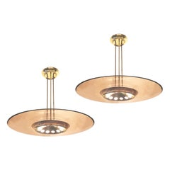 Fontana Arte Ceiling Light Model 1508 by Max Ingrand, 2 Available