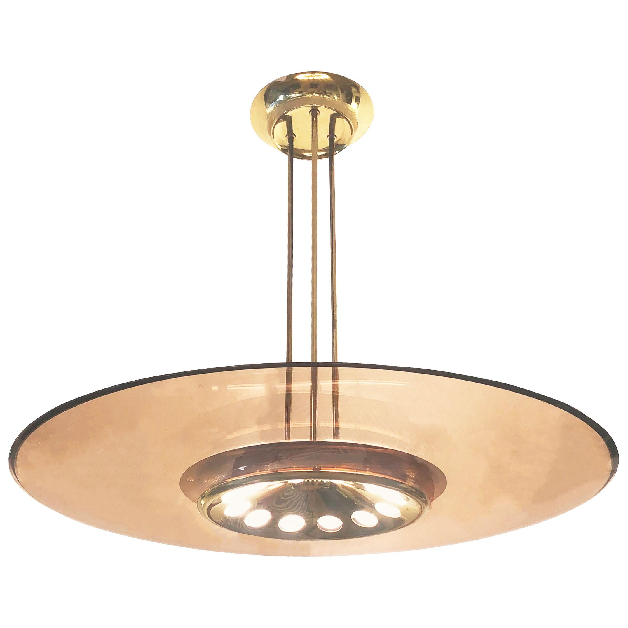 Fontana Arte Ceiling Light Model 1508 by Max Ingrand