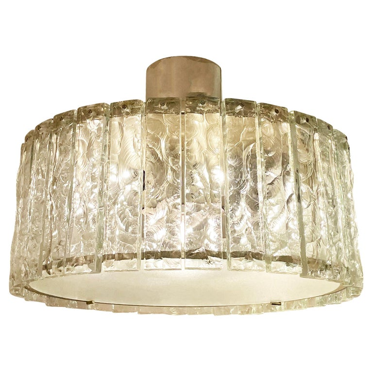 Fontana Arte Ceiling Light Model 2448 by Max Ingrand For Sale