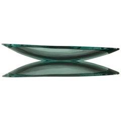 Fontana Arte Centerpiece/Svuota Tasche Glass, 1950, Italy