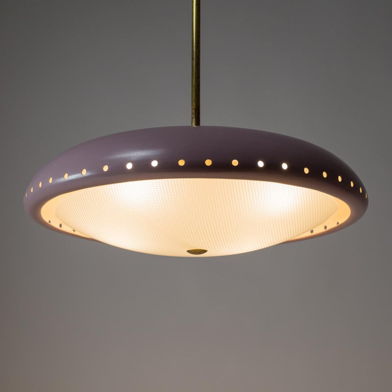 Lacquered Fontana Arte Chandelier, 1950s For Sale