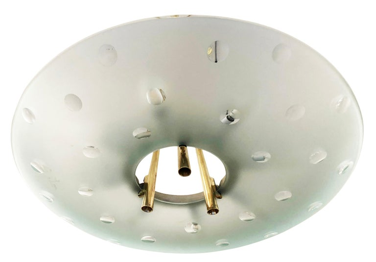 Fontana Arte Chandelier by Max Ingrand, Italy, 1955 In Good Condition For Sale In New York, NY