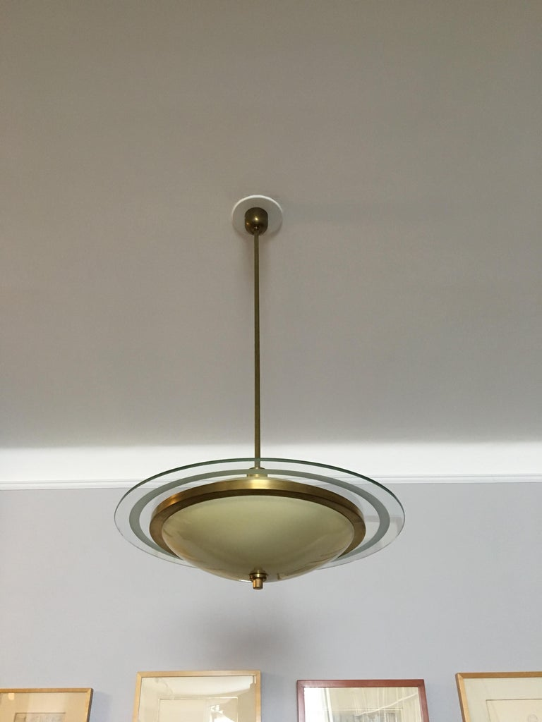 Mid-Century Modern Fontana Arte Chandelier by Pietro Chiesa For Sale