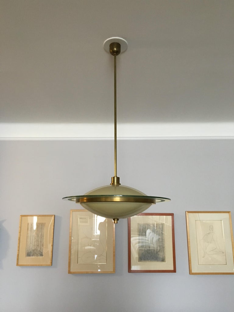 Italian Fontana Arte Chandelier by Pietro Chiesa For Sale
