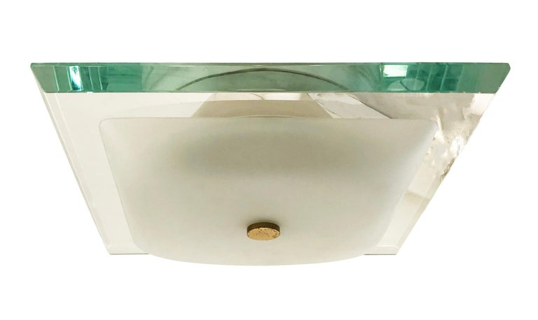 Italian Fontana Arte Flushmount Model 1990/0 For Sale