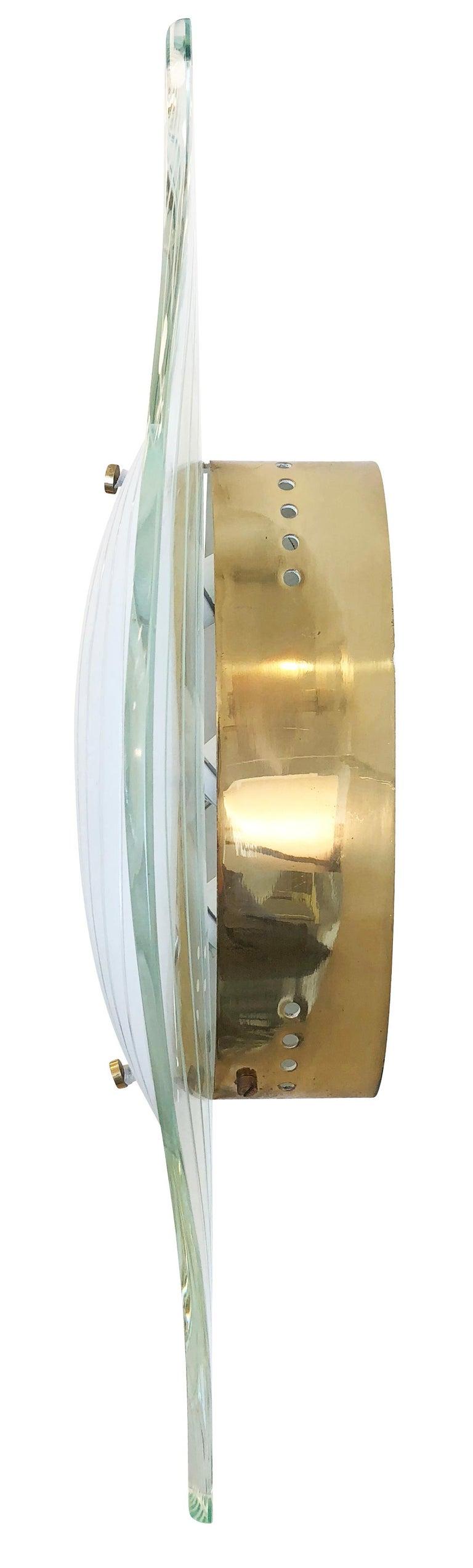 Italian Fontana Arte Flush Mount Model 2340 by Max Ingrand For Sale