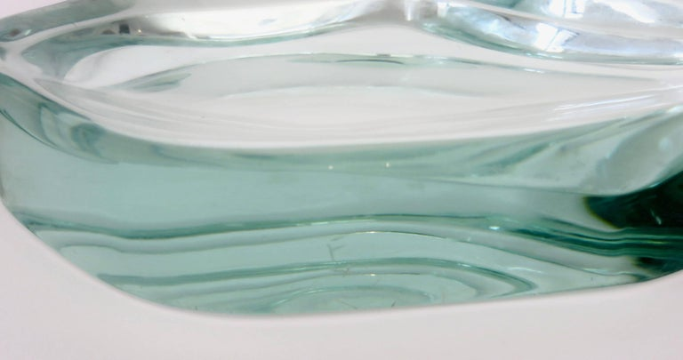 Fontana Arte Glass Dish or Vide Poche by Max Ingrand For Sale 6