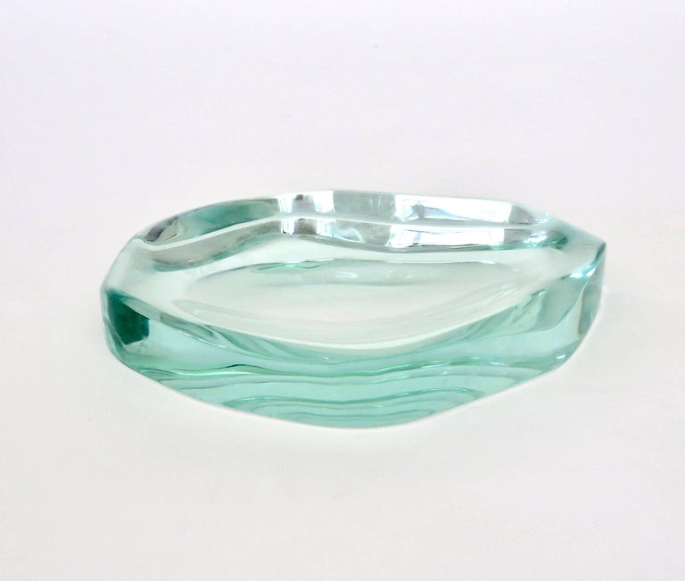 Fontana Arte Glass Dish or Vide Poche by Max Ingrand For Sale 1