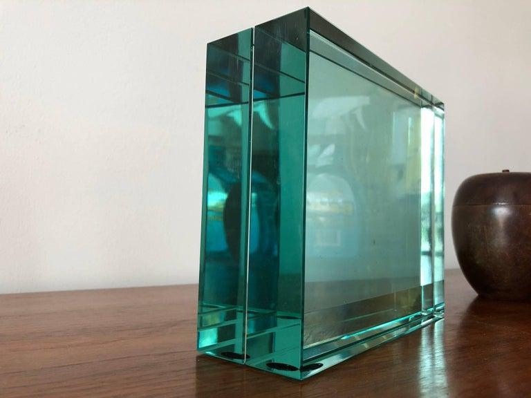 Italian Fontana Arte Glass Picture Frame For Sale