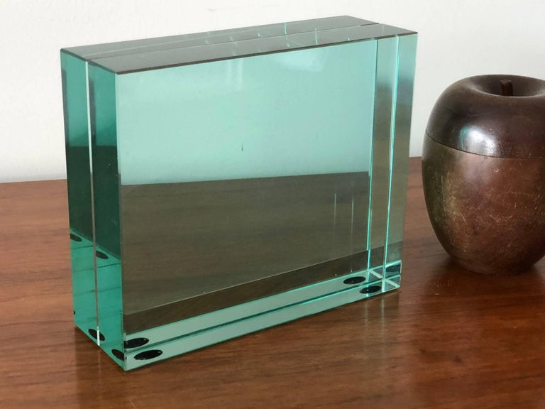 Fontana Arte Glass Picture Frame In Good Condition For Sale In St.Petersburg, FL