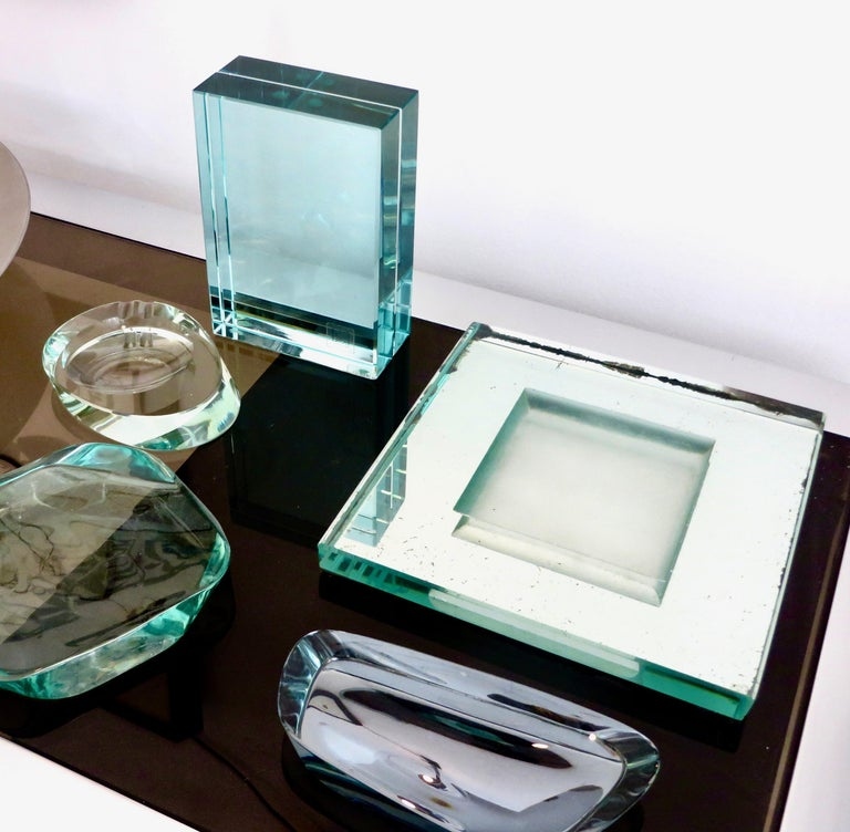 Fontana Arte Italian All Double Glass Picture Frame with Label For Sale 5