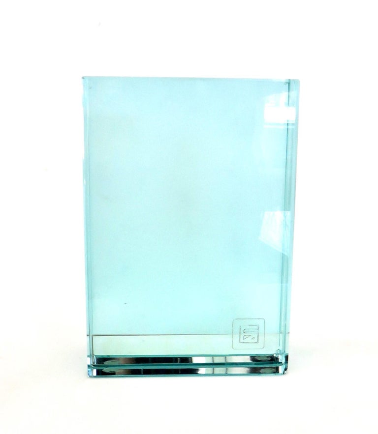 Fontana Arte Italian All Double Glass Picture Frame with Label For Sale 1