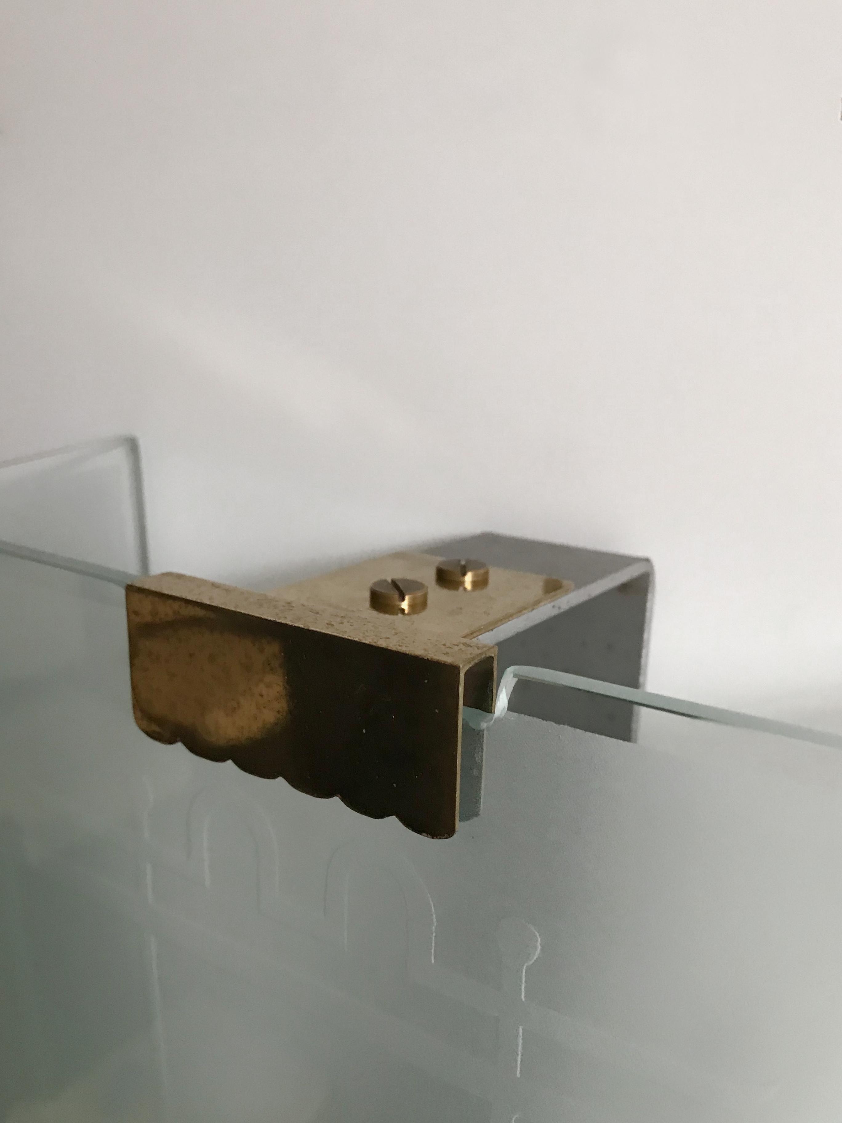 Fontana Arte Italian Glass Brass Sconce or Wall Light, 1930s For ...