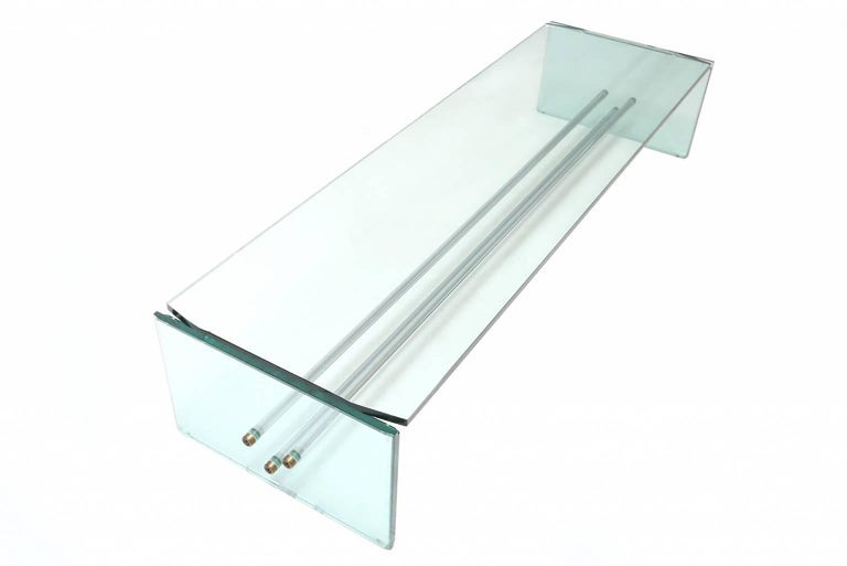 Italian Fontana Arte Large Glass Coffee Table For Sale