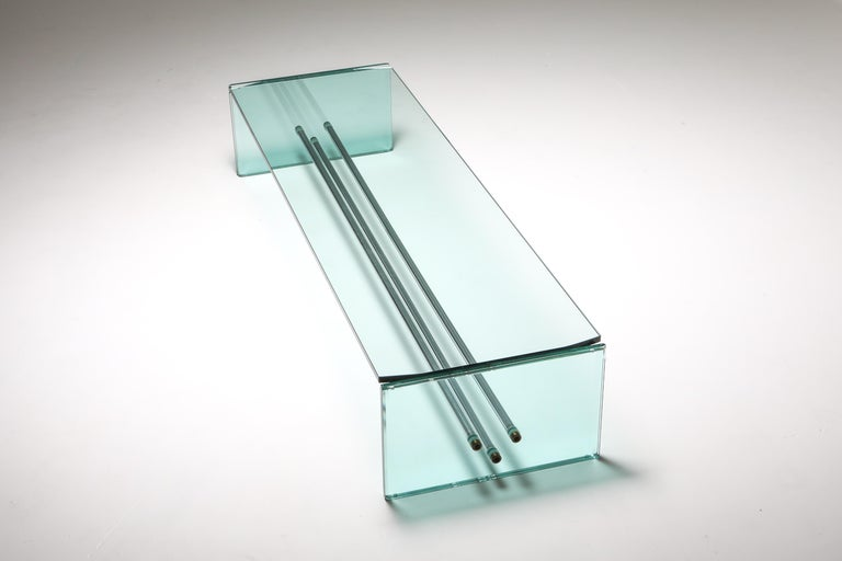 Fontana Arte Large Glass Coffee Table In Excellent Condition For Sale In Antwerp, BE