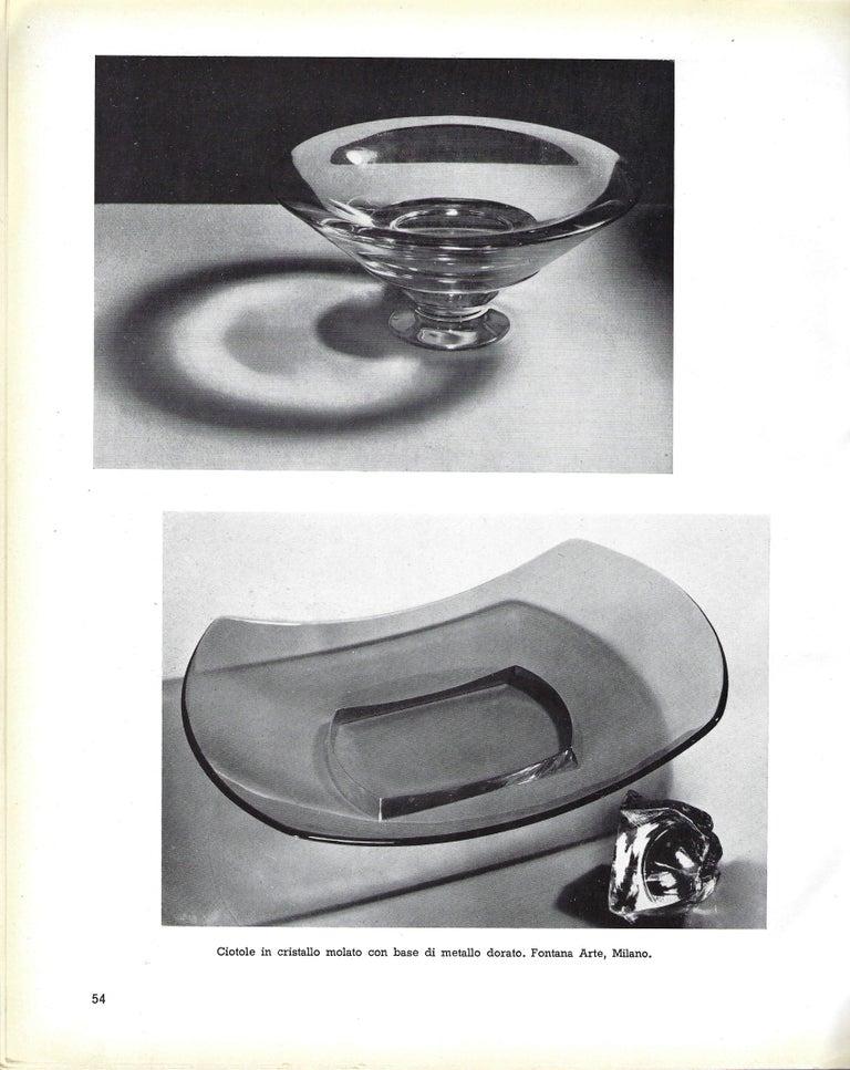Fontana Arte Large Gray Glass Dish or Centerpiece Model 1419 For Sale 3