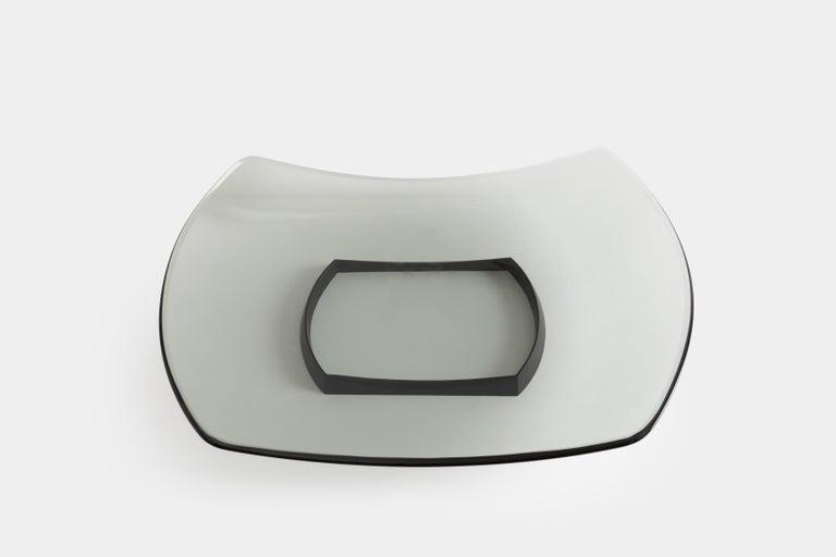 Italian Fontana Arte Large Gray Glass Dish or Centerpiece Model 1419 For Sale