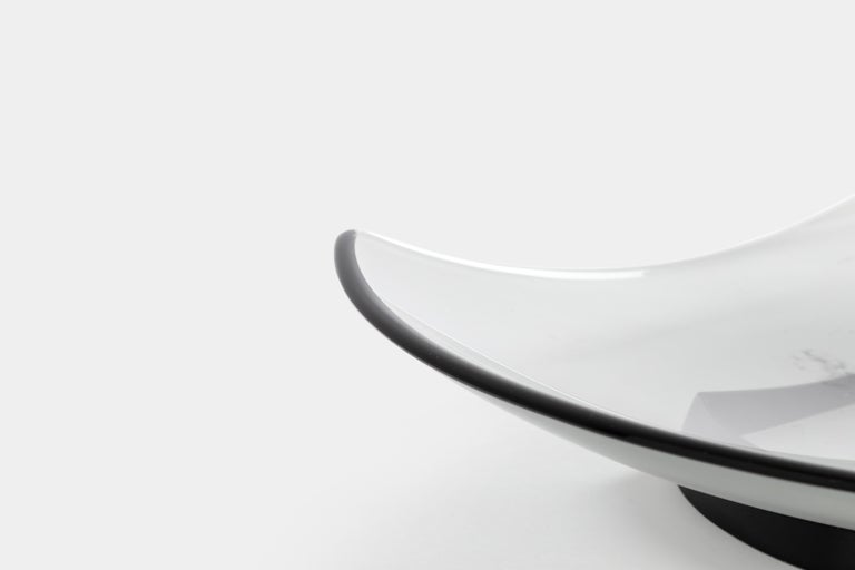 Mid-20th Century Fontana Arte Large Gray Glass Dish or Centerpiece Model 1419 For Sale