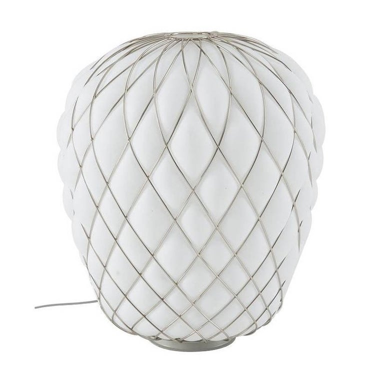 """Fontana Arte """"Pinecone"""" Small Blown Glass Table Lamp Designed by Paola Navone"""