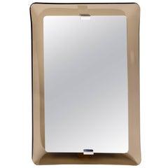 Fontana Arte Rectangular Glass Framed Mirror