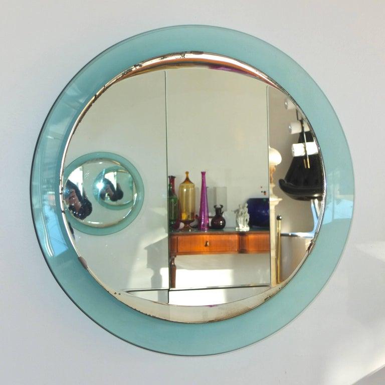 Fontana Arte Round Mirror For Sale 1
