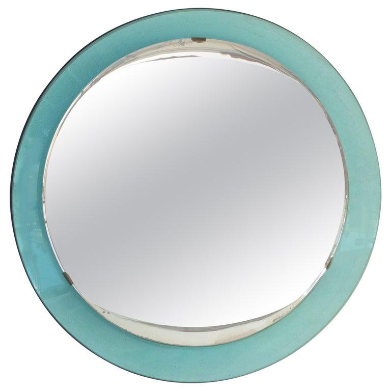Fontana Arte Round Mirror For Sale