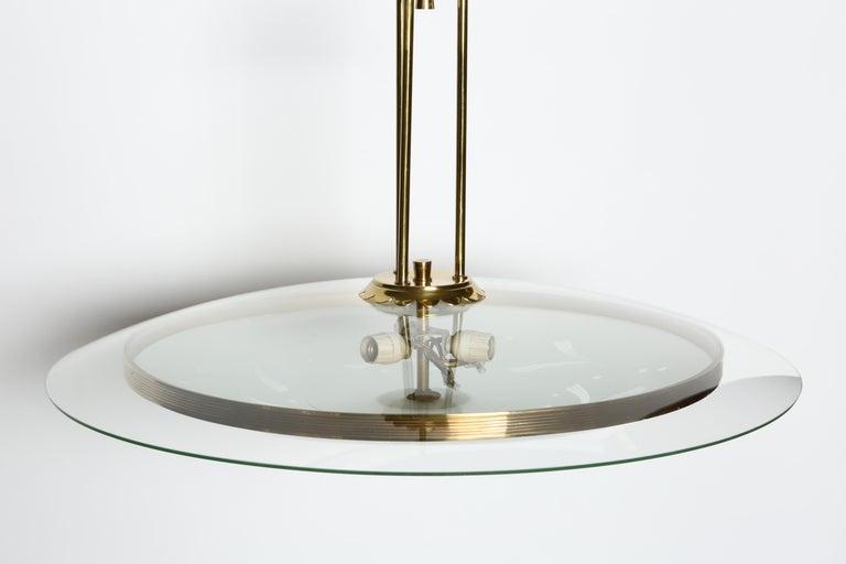 Mid-20th Century Fontana Arte Style Chandelier For Sale
