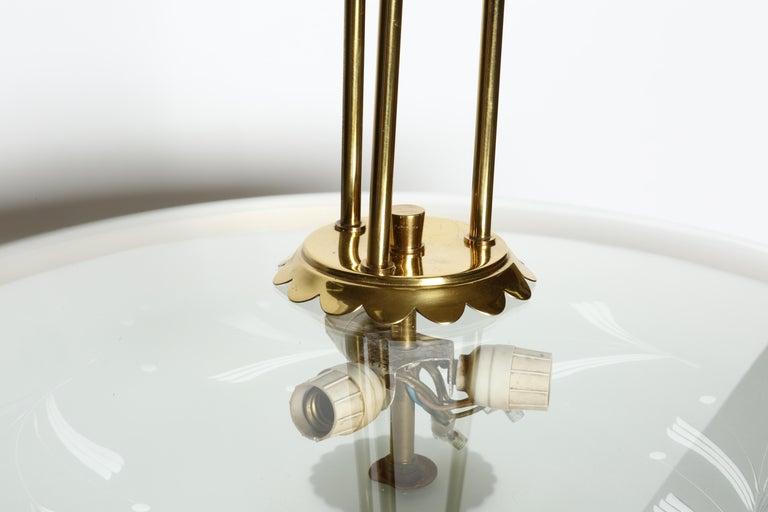 Brass Fontana Arte Style Chandelier For Sale