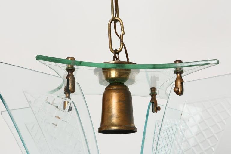 Fontana Arte style lantern For Sale 2