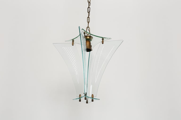 Italian Fontana Arte style lantern For Sale