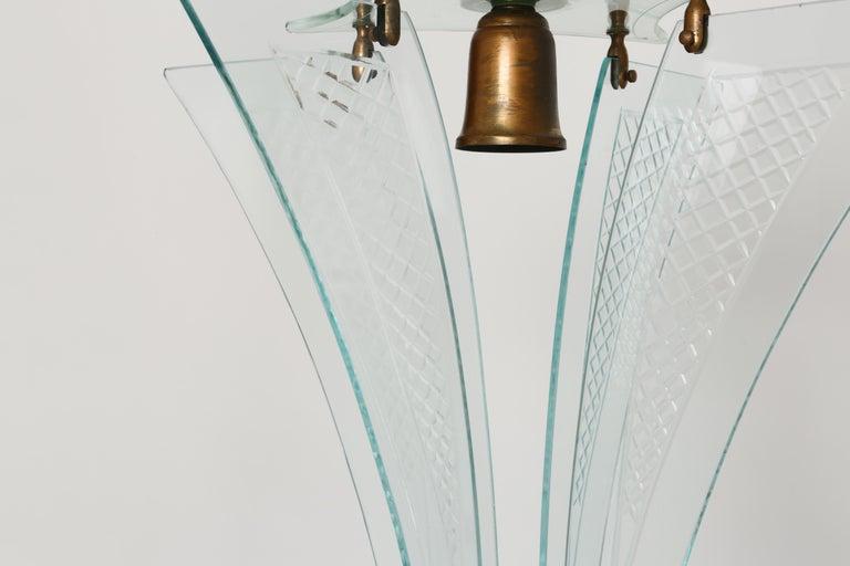 Mid-20th Century Fontana Arte style lantern For Sale