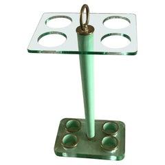 Fontana Arte Umbrella Holder Glass Brass, 1945, Italy