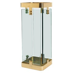 Fontana Arte Umbrella Stand in Glass and Brass 1960-70 Italy