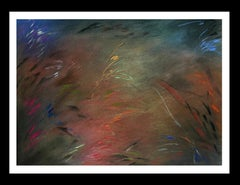 NIGHT LANDSCAPE original pastel abstract painting