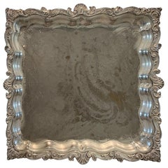 Footed Silverplate Serving Tray by Birmingham Silver Co