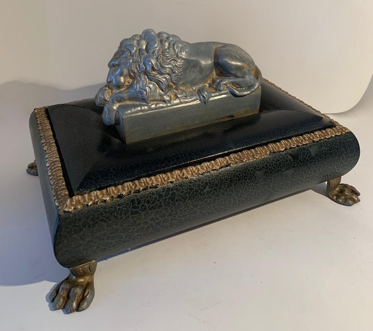 Footer Letter Box with Reclining Lion For Sale 1