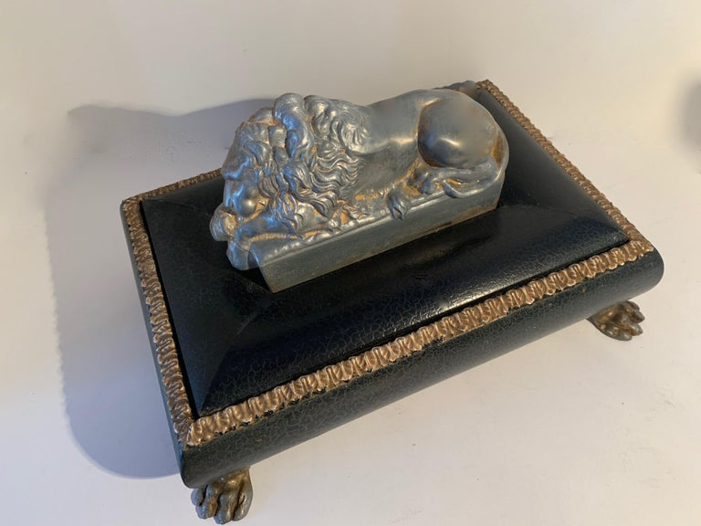 Footer Letter Box with Reclining Lion For Sale 2