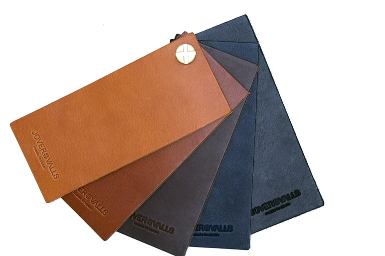 Footstool, Black Smoke Steel and Black Saddle Leather, HUG COLLECTION.  For Sale 1