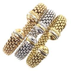 Fope 18 Karat Tri-Color Set of Three Cuff Bracelets