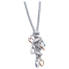 Fope 18 Karat White Gold Ladies Necklace with Diamonds