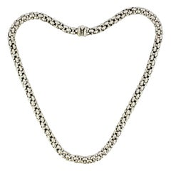 Fope 18 Karat White Gold Necklace, circa 1990s