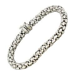 Fope 18 Karat White Gold Unisex Bracelet, 1990s