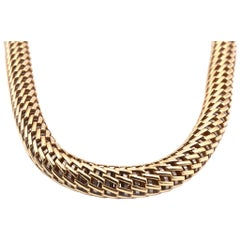 Fope 18 Karat Yellow Gold Mesh Collar Necklace