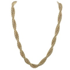 Fope 18 Karat Yellow Woven Gold Twist Necklace