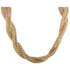 Fope 18 Karat Yellow and Rose Gold Two-Tone Chain Necklace